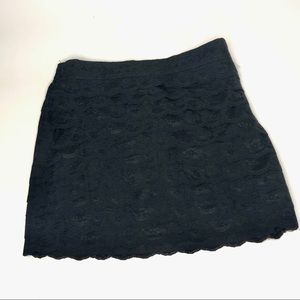 Forever 21 Black Lace Mini Skirt Size
